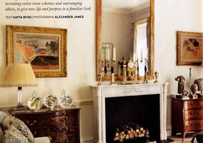 A Sophisticated French Marble Fireplace in a London flat