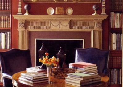18th Century Wood Fireplace in Architectural Digest Feature