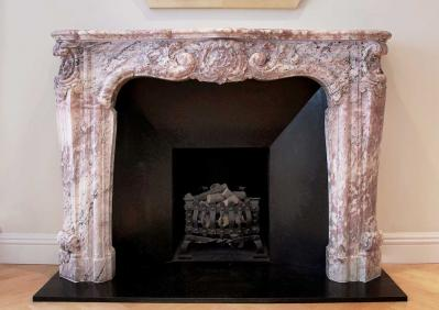 Add a Splash of Colour with an Antique Marble Fireplace
