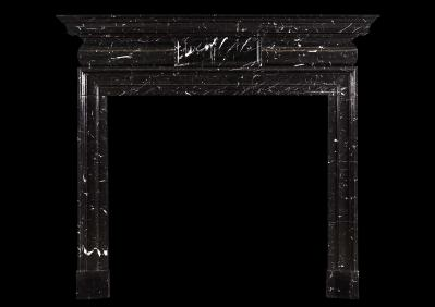 Dark and handsome - dramatic marble antique fireplaces