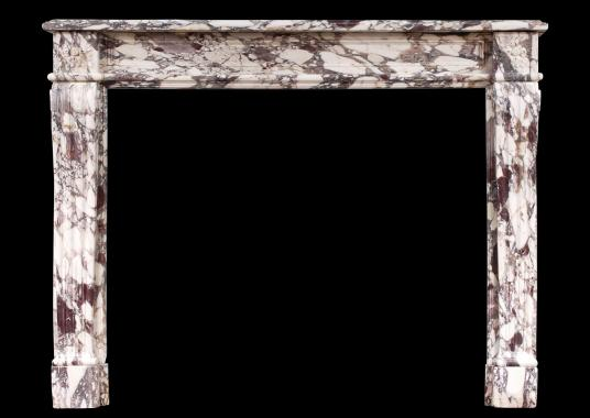 A fine quality Breche Violette marble fireplace