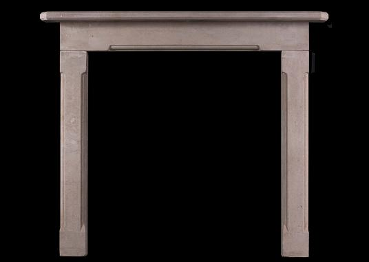 A simple English fireplace in Portland stone