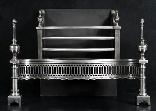 An English polished steel firegrate