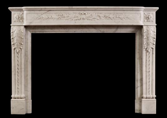 A 19th century French Louis XVI style fireplace