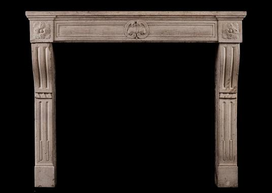 A period Louis XVI French limestone chimneypiece