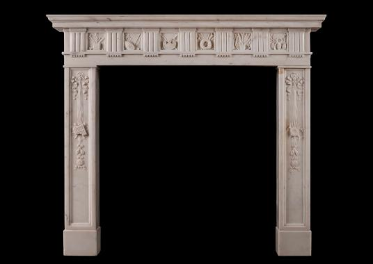 A late Georgian Statuary marble fireplace of the finest quality