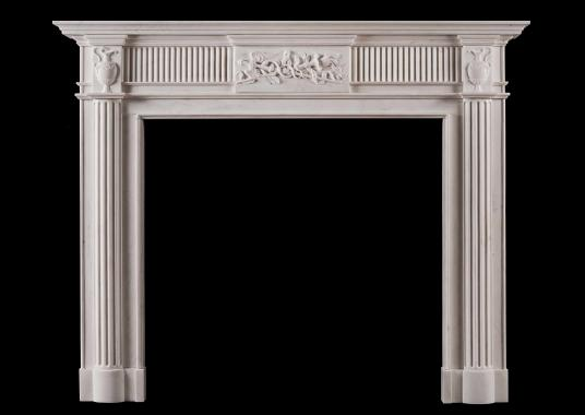 An English fireplace in the Georgian style
