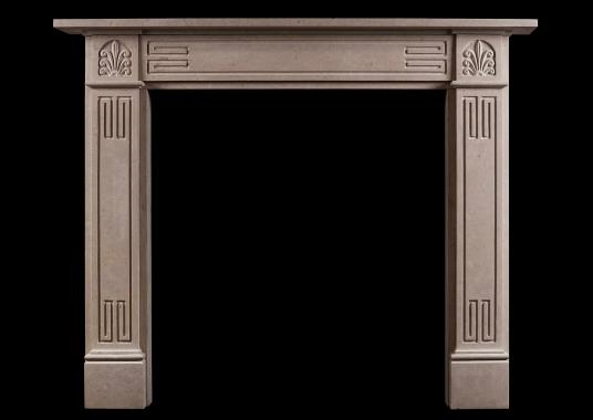 An English Bath stone Regency style fireplace