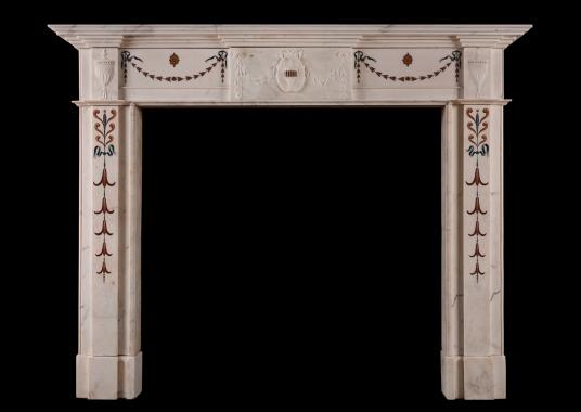 An English fireplace in Georgian manner