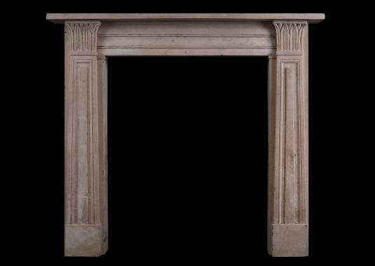 A Regency style bath stone fireplace