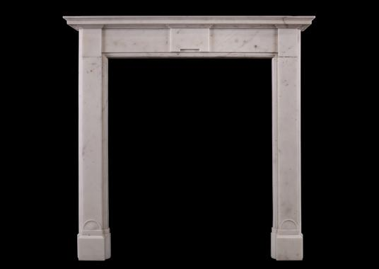 An English Regency white marble fireplace