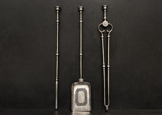 A set of very good quality Regency firetools