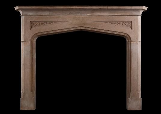 A Gothic style fireplace
