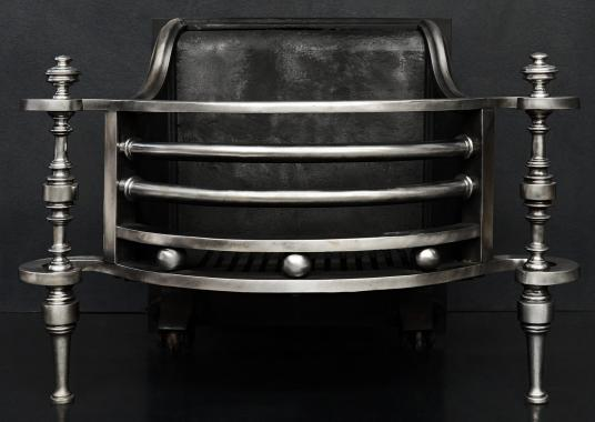 An unusual shaped steel firebasket