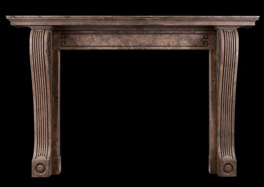 A period Regency stone fireplace