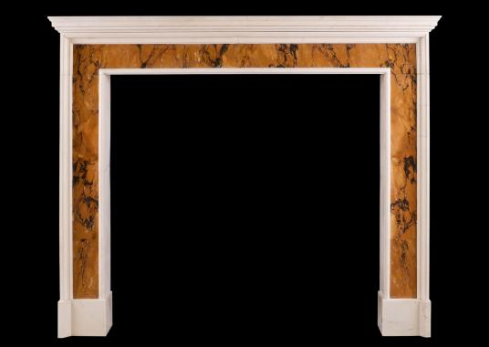 A period Queen Anne marble fireplace