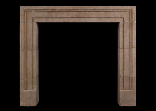 An architectural Bath stone fireplace