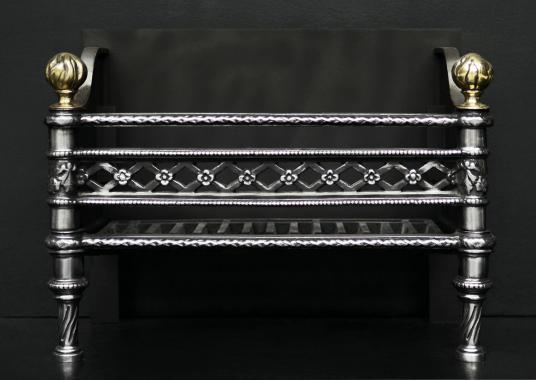 A pretty polished cast iron firegrate