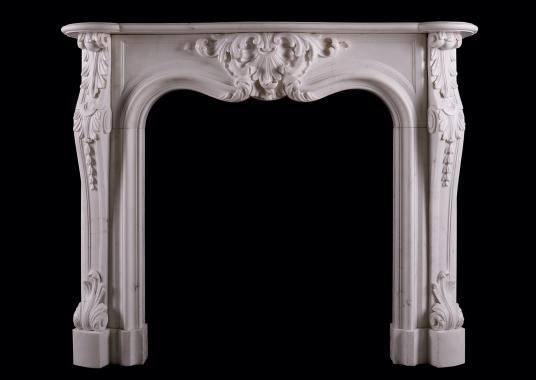 A period Regency Statuary marble fireplace