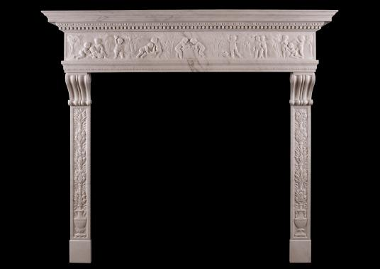 A fine quality Italian Renaissance style fireplace