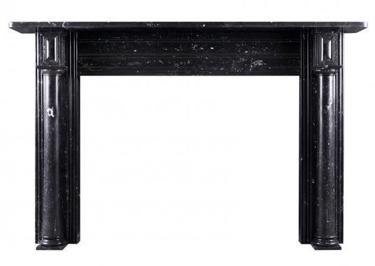 A black Kilkenny marble fireplace