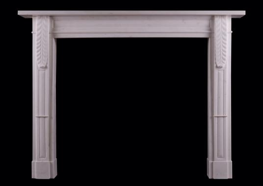 A Regency Statuary marble fireplace