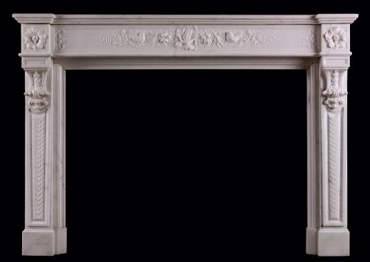 A carved Statuary marble fireplace