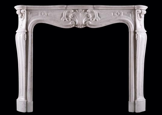 A French Louis XV style fireplace