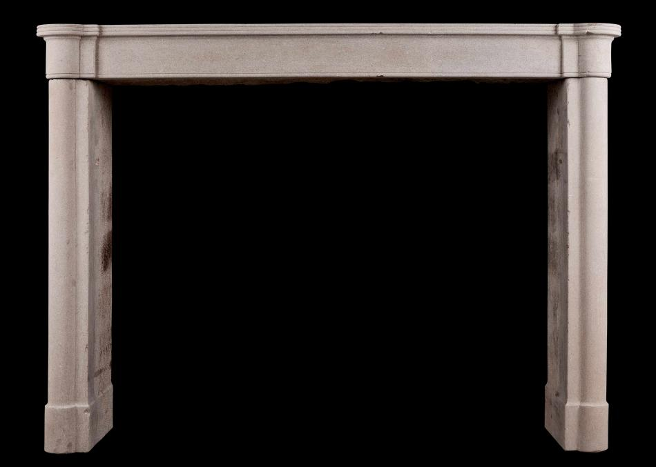 A period 18th century Directoire fireplace with half round columns