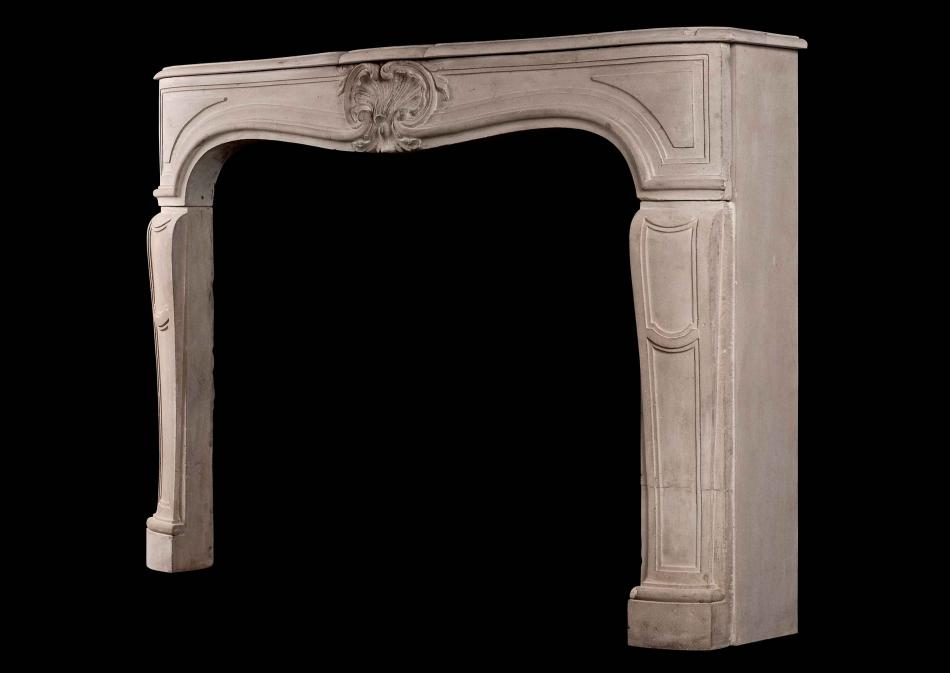 A 19th century French Louis XV style antique chimneypiece