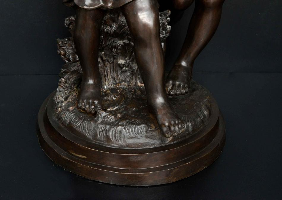 A Large Bronze Sculpture by Well Known Parisian Artist August Moreau