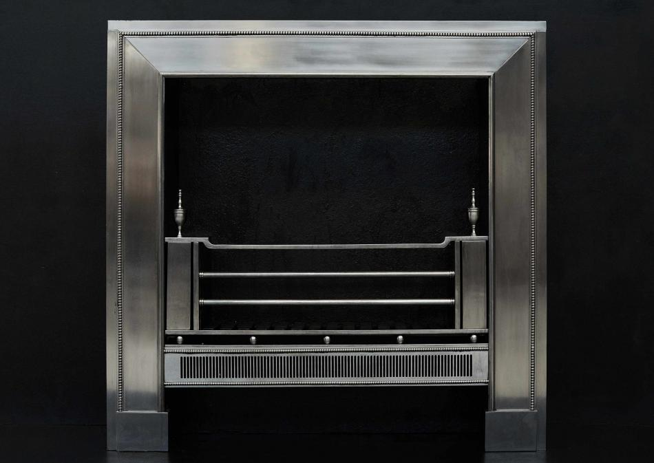 A Georgian Style Polished Steel Register Grate