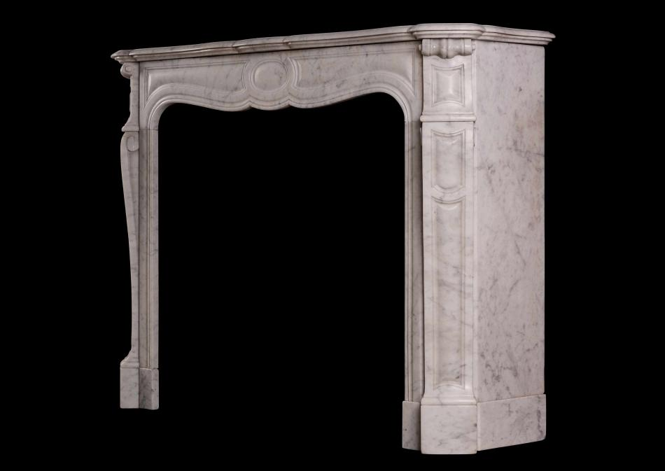 A 19th century Louis XV Pompadour marble fireplace