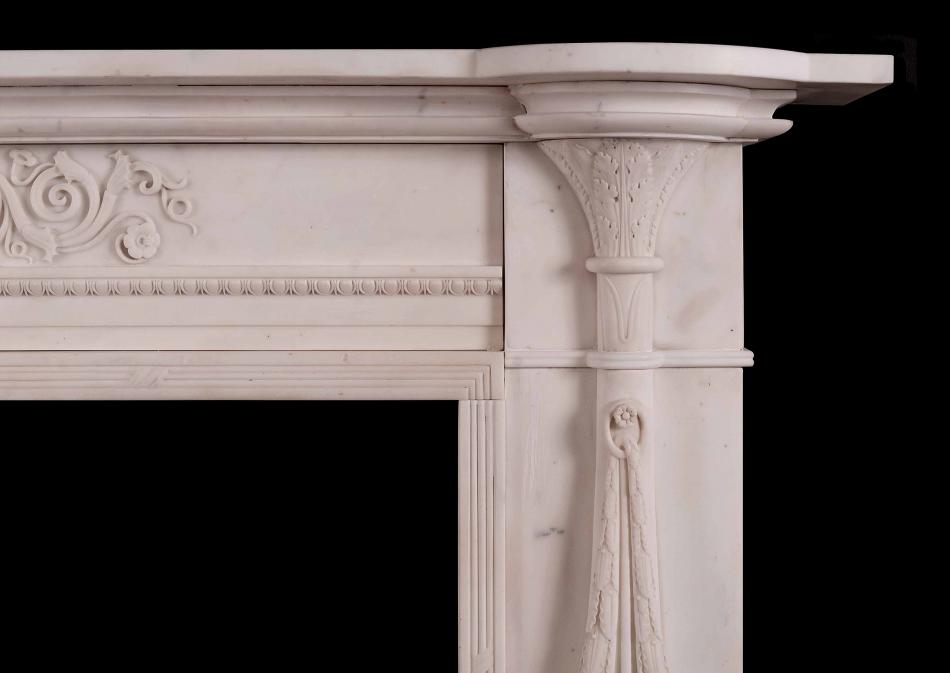 A fine quality period Regency Statuary marble fireplace