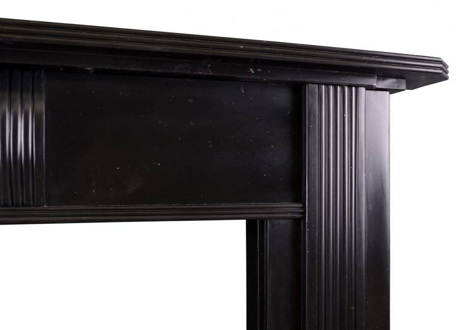 A Regency fireplace in black Kilkenny marble