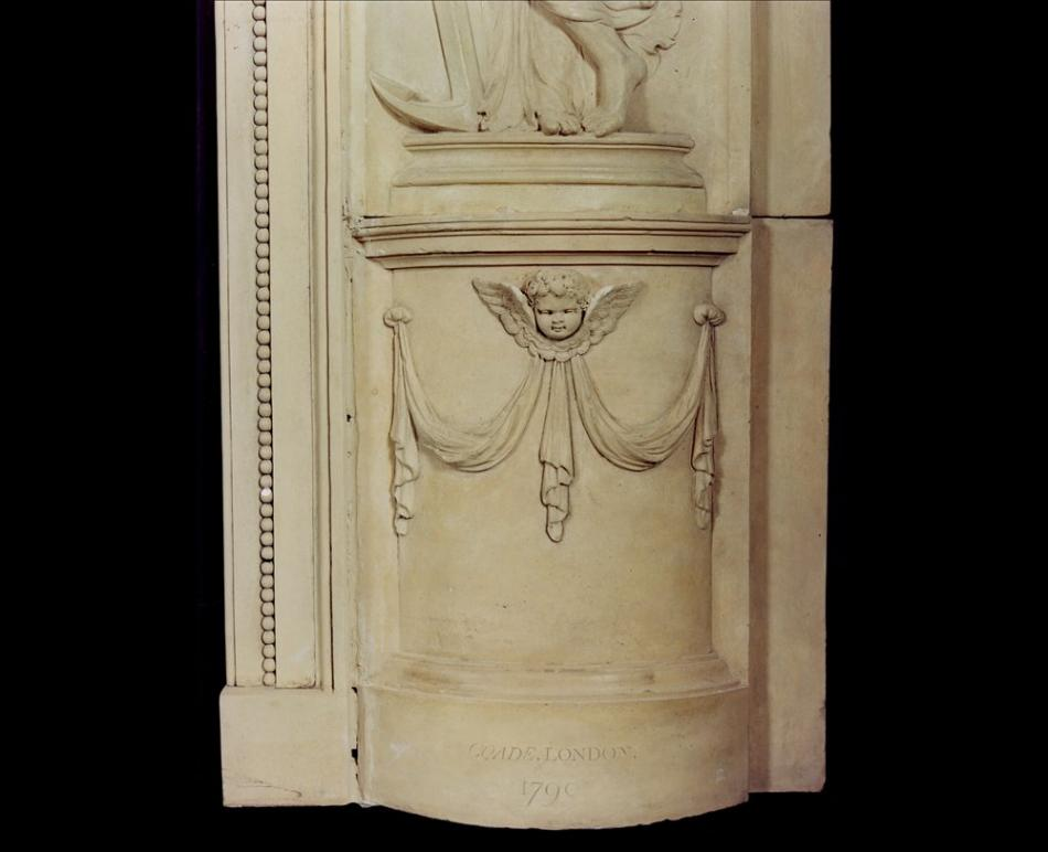 A rare and beautiful English Coadestone fireplace, circa 1790