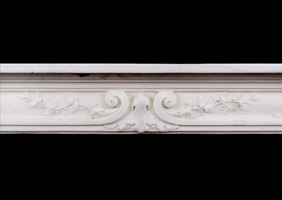 A late 18th century Louis XVI Statuary marble fireplace