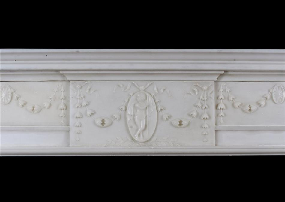 A George III Marble Chimneypiece in the Manner Robert Adam
