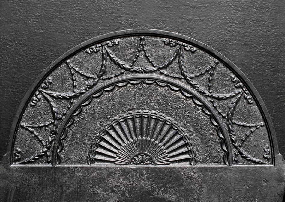 An English polished cast iron firegrate 24 inch