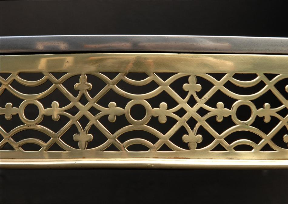 A Brass and steel firegrate in the George III style