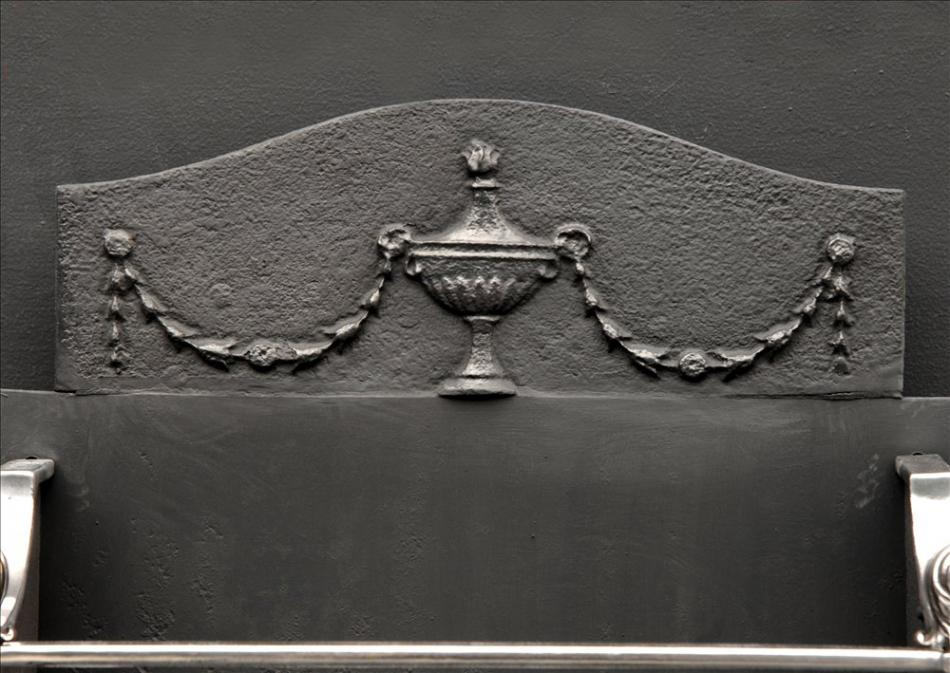 A fine quality 19th century English George III style steel firegrate