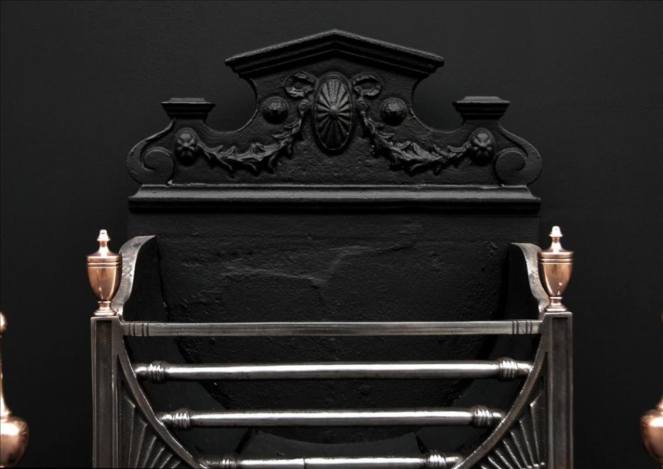 A 19th century English steel firegrate