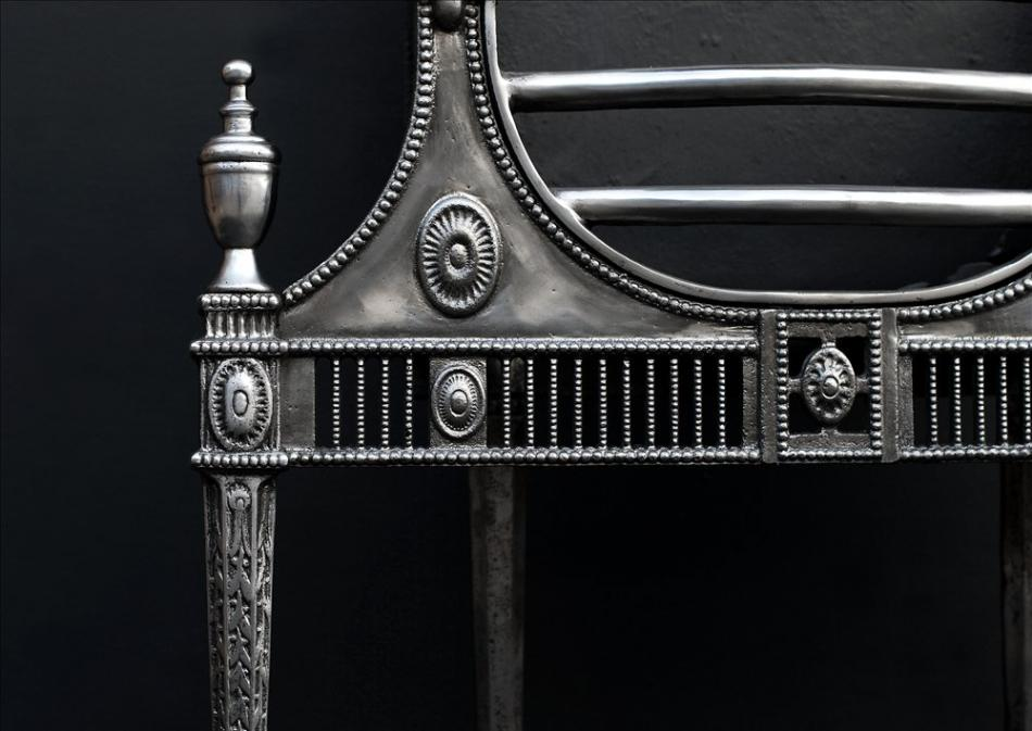 A Georgian style polished firegrate