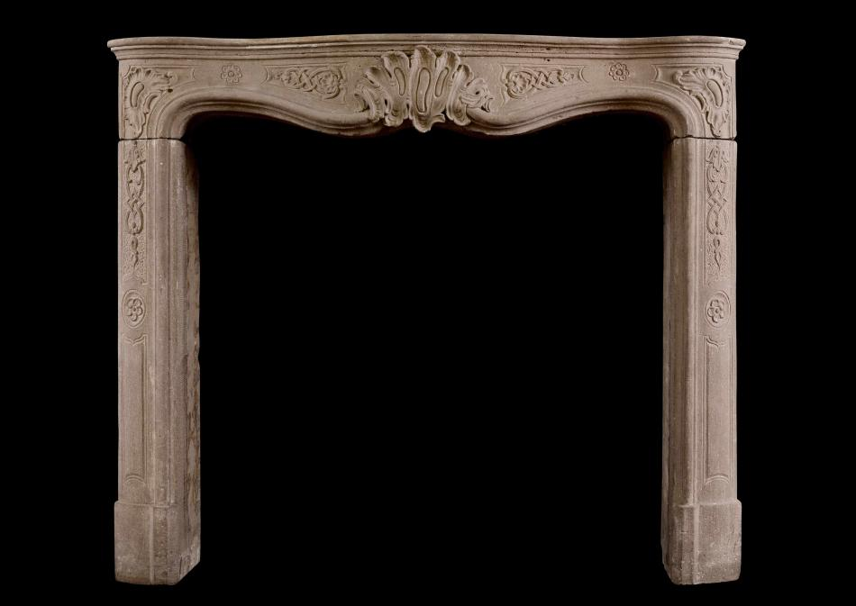 A period 18th century French Louis XV chimneypiece