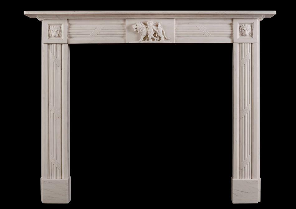 'Androcles and the Lion' - an early Regency style fireplace