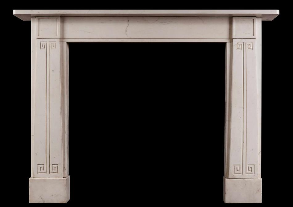 A Statuary marble fireplace in the manner of John Soane