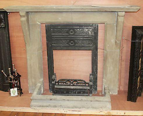 An English fireplace in York stone