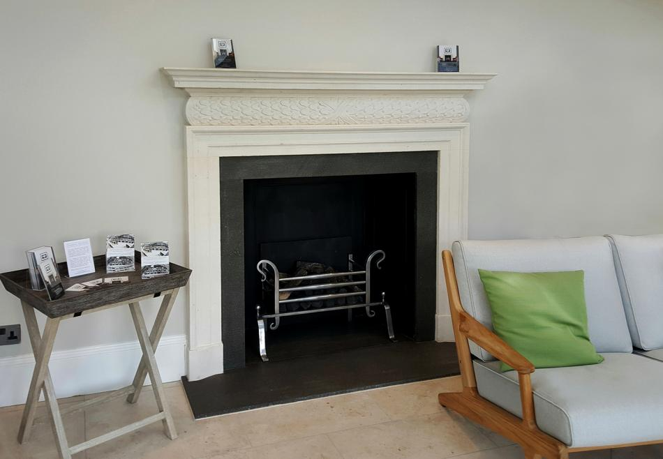 Thornhill Gallery's fireplace installed in the new Orangery venue