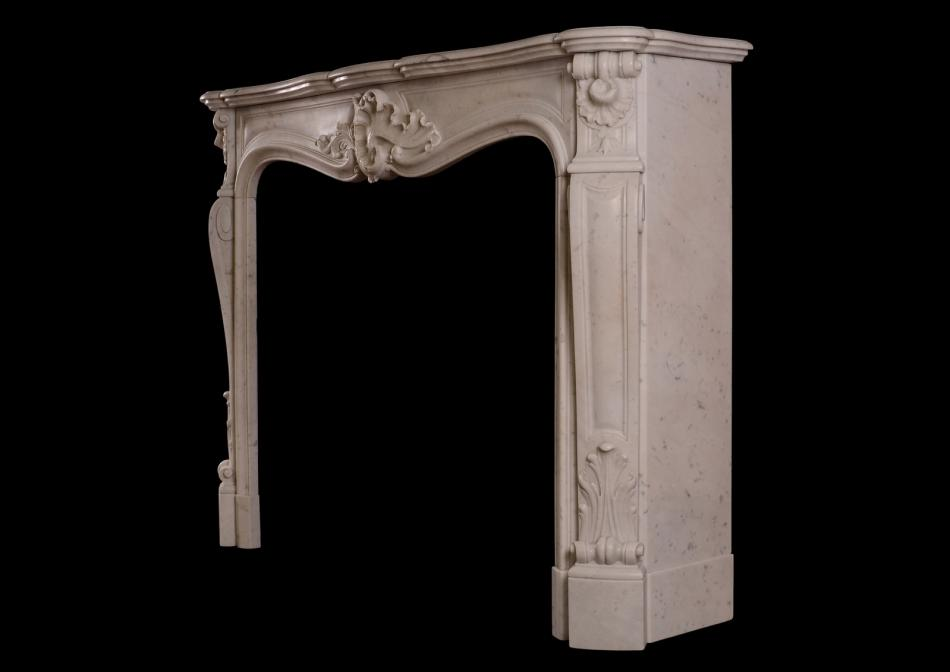 A French Louis XV style antique fireplace