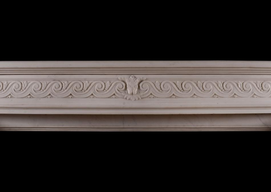 A Statuary marble French Louis XVI style mantel